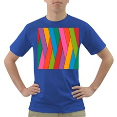 Colorful Lines Pattern Dark T-Shirt