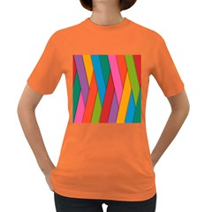 Colorful Lines Pattern Women s Dark T-Shirt