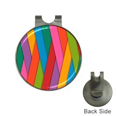 Colorful Lines Pattern Hat Clips with Golf Markers