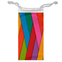 Colorful Lines Pattern Jewelry Bag