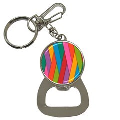 Colorful Lines Pattern Button Necklaces