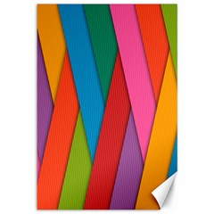 Colorful Lines Pattern Canvas 12  X 18