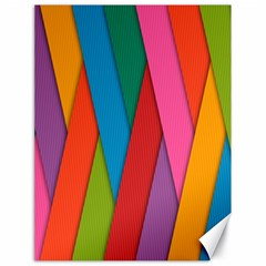 Colorful Lines Pattern Canvas 18  x 24