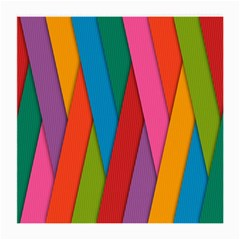 Colorful Lines Pattern Medium Glasses Cloth (2-Side)