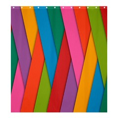 Colorful Lines Pattern Shower Curtain 66  X 72  (large)