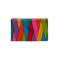 Colorful Lines Pattern Cosmetic Bag (Small)