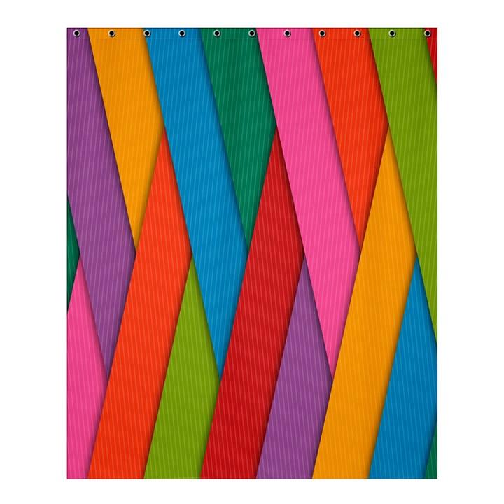 Colorful Lines Pattern Shower Curtain 60  x 72  (Medium)