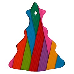 Colorful Lines Pattern Ornament (Christmas Tree)