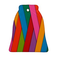 Colorful Lines Pattern Bell Ornament (Two Sides)