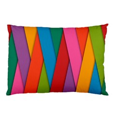 Colorful Lines Pattern Pillow Case (two Sides)