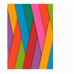 Colorful Lines Pattern Large Garden Flag (Two Sides)