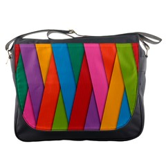 Colorful Lines Pattern Messenger Bags