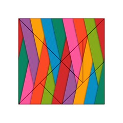 Colorful Lines Pattern Acrylic Tangram Puzzle (4  x 4 )
