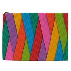 Colorful Lines Pattern Cosmetic Bag (XXL)
