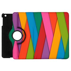 Colorful Lines Pattern Apple iPad Mini Flip 360 Case