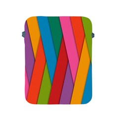 Colorful Lines Pattern Apple iPad 2/3/4 Protective Soft Cases
