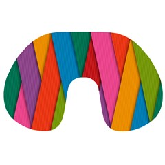Colorful Lines Pattern Travel Neck Pillows
