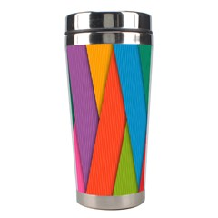 Colorful Lines Pattern Stainless Steel Travel Tumblers