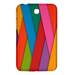 Colorful Lines Pattern Samsung Galaxy Tab 3 (7 ) P3200 Hardshell Case