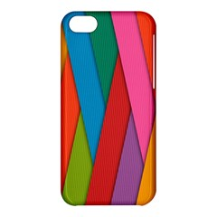 Colorful Lines Pattern Apple iPhone 5C Hardshell Case