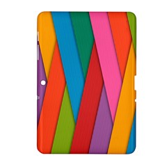 Colorful Lines Pattern Samsung Galaxy Tab 2 (10 1 ) P5100 Hardshell Case