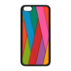 Colorful Lines Pattern Apple iPhone 5C Seamless Case (Black)