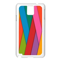 Colorful Lines Pattern Samsung Galaxy Note 3 N9005 Case (White)