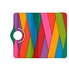 Colorful Lines Pattern Kindle Fire HDX 8.9  Flip 360 Case