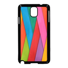 Colorful Lines Pattern Samsung Galaxy Note 3 Neo Hardshell Case (Black)