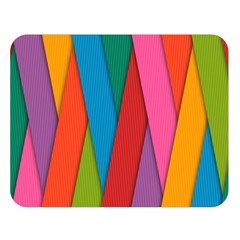 Colorful Lines Pattern Double Sided Flano Blanket (Large)