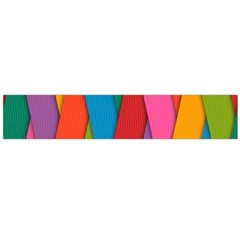 Colorful Lines Pattern Flano Scarf (Large)