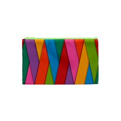 Colorful Lines Pattern Cosmetic Bag (xs)
