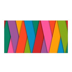 Colorful Lines Pattern Satin Wrap