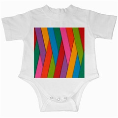 Colorful Lines Pattern Infant Creepers