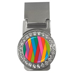 Colorful Lines Pattern Money Clips (cz)