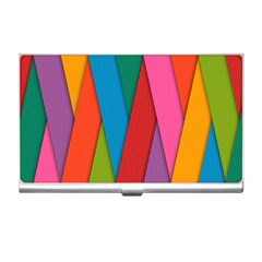 Colorful Lines Pattern Business Card Holders