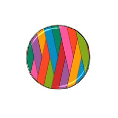 Colorful Lines Pattern Hat Clip Ball Marker (4 pack)