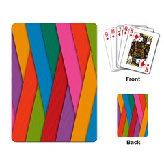 Colorful Lines Pattern Playing Card