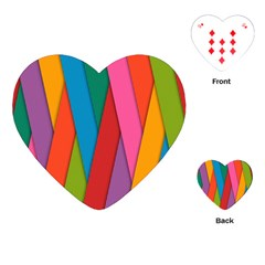 Colorful Lines Pattern Playing Cards (Heart)