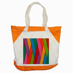 Colorful Lines Pattern Accent Tote Bag