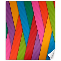 Colorful Lines Pattern Canvas 8  X 10