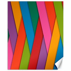 Colorful Lines Pattern Canvas 11  x 14