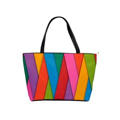 Colorful Lines Pattern Shoulder Handbags