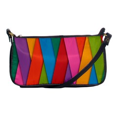 Colorful Lines Pattern Shoulder Clutch Bags