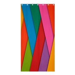 Colorful Lines Pattern Shower Curtain 36  X 72  (stall)