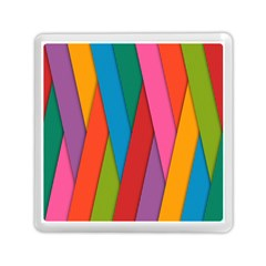 Colorful Lines Pattern Memory Card Reader (square)