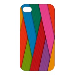 Colorful Lines Pattern Apple iPhone 4/4S Premium Hardshell Case
