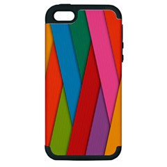 Colorful Lines Pattern Apple iPhone 5 Hardshell Case (PC+Silicone)
