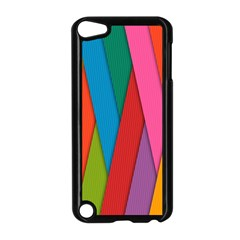 Colorful Lines Pattern Apple Ipod Touch 5 Case (black)
