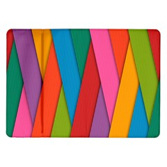 Colorful Lines Pattern Samsung Galaxy Tab 10.1  P7500 Flip Case